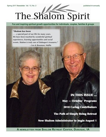 in this issue ... - Shalom Retreat Center