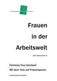 Begleitbroschüre: Frauen in der Arbeitswelt - ThurgauerFrauenArchiv