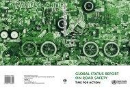 global status report on road safety - World Health Organization