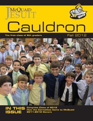 IN THIS ISSUE - McQuaid Jesuit High School