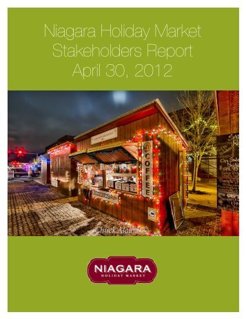 Niagara Holiday Market Stakeholders Report April 30 ... - E-Gov Link
