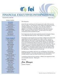March 2010 Newsletter - Financial Executives International