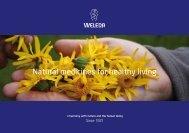 Natural medicines for healthy living - Weleda