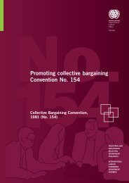 Promoting collective bargaining Convention No. 154 - International ...