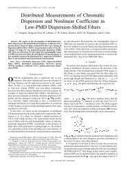 Distributed measurements of chromatic dispersion and nonlinear ...