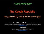 The Czech Republic - Very preliminary results ... - Terrafirma.eu.com