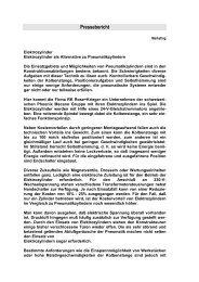 Pressebericht - Phoenix Mecano Komponenten AG