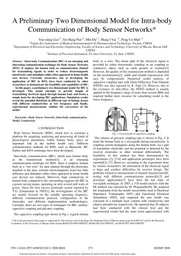 A Preliminary Two Dimensional Model for Intra-body - Biomedical ...