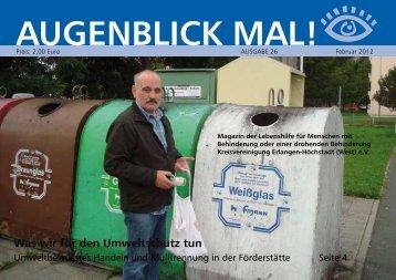 Was wir für den Umweltschutz tun - Lebenshilfe Erlangen-Höchstadt
