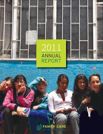 FCI Annual Report 2011 - Family Care International