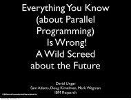 David Ungar Sam Adams, Doug Kimelman, Mark Wegman IBM ...