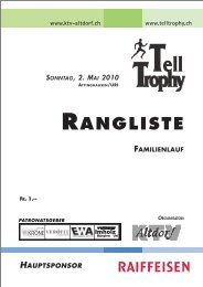 Tell Trophy Familienlauf 2010 Rangliste - ALGE-TIMING Schweiz