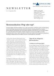 Kommunikation: Flop oder top? - HSP Consulting AG