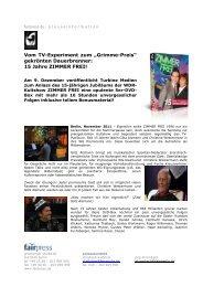 15 Jahre ZIMMER FREI! - fairmedia gmbh