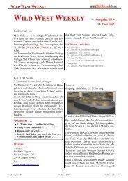 WILD WEST WEEKLY - Ausgabe 18 - Editorial ... - Rennserien-West