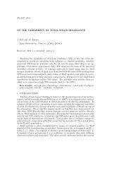 BAASP, 2012 ON THE VARIABILITY OF TOTAL SOLAR ...