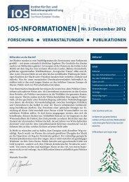 IOS-INFORMATIONEN | Nr. 3/Dezember 2012 - Südost-Institut