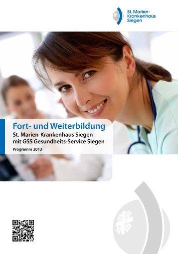 Fortbildungsprogramm - St. Marien-Krankenhaus Siegen