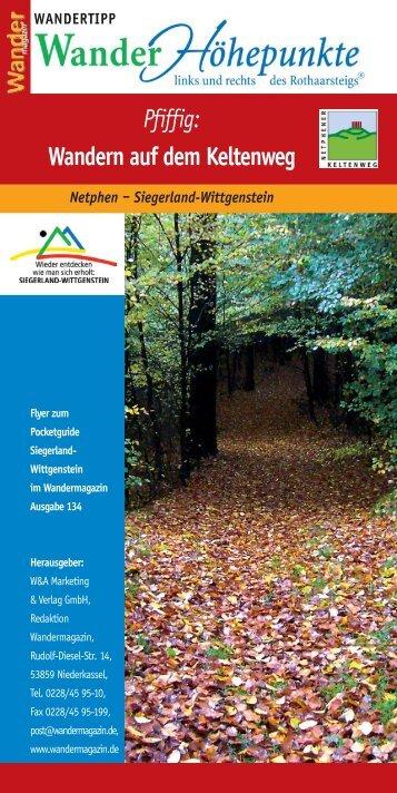 Pfiffig: Wandern auf dem Keltenweg - Wittgensteiner Wanderland