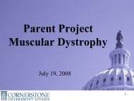 Weber Shandwick Worldwide - Parent Project Muscular Dystrophy