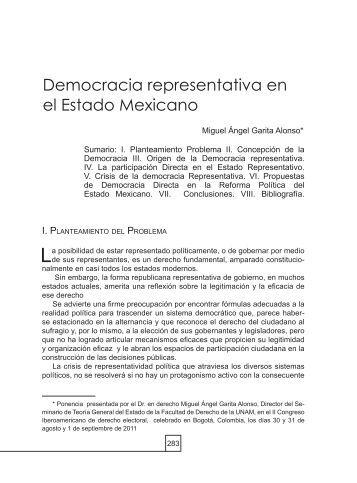Democracia representativa en el Estado Mexicano - Facultad de ...