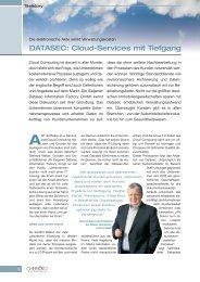 DATASEC: Cloud-Services mit Tiefgang