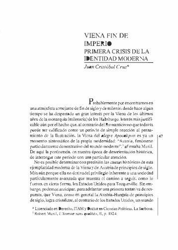 viena, fin de imperio, primera crísis de la - Biblioteca - Itam