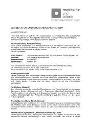 Newsletter der LAG 2 2011 - Architektur und Schule ...