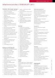 Inhaltsverzeichnis SCHULBLATT 2011 - alv