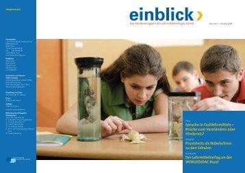 einblick 3/2008 - Lehrmittelverlag Zuerich