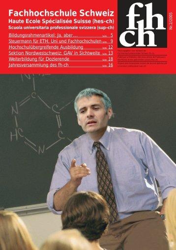 3/2005 - Verband der Fachhochschul-Dozierenden Schweiz FH-CH