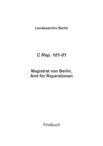C Rep. 101-01 - Landesarchiv Berlin