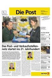 Das Post- und Verkaufsstellen- netz startet ins 21. Jahrhundert - Die ...