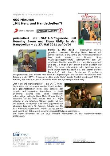 """900 Minuten """"Mit Herz und Handschellen""""! - fairmedia GmbH"""