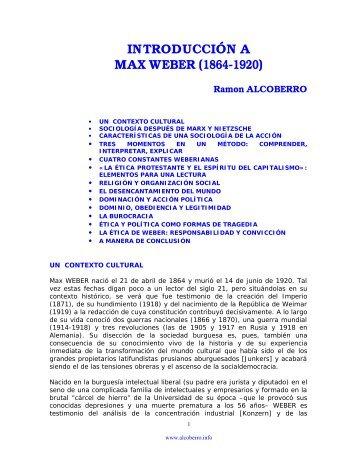introducción a max weber (1864-1920) - Ramon Alcoberro i Pericay