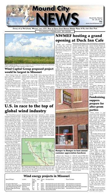 February 19, 2009 - Mound City News