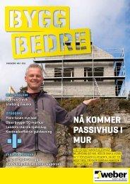 Flere tusen nye bad Obos bygger 50 murhus Landets ... - Weber