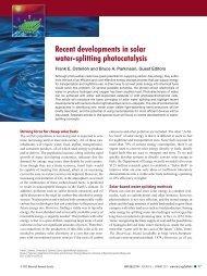 Recent developments in solar water-splitting photocatalysis