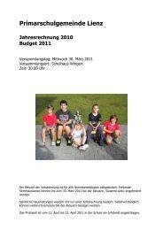 Amtsbericht - Primarschulgemeinde Lienz