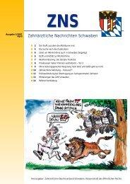 Zahnärztliche Nachrichten Schwaben 5/2007 - Zahnärztlicher ...