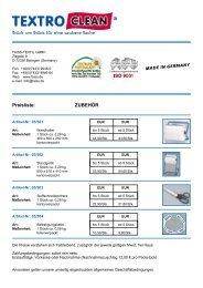 Preisliste: ZUBEHÖR - Faiss  Textil GmbH