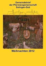 Weihnachten 2012 - St. Mariä Empfängnis - Kohlsberg