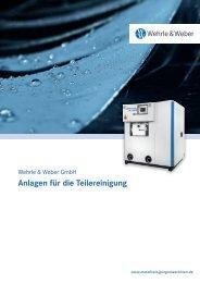 Anlagen für die Teilereinigung - Wehrle & Weber GmbH