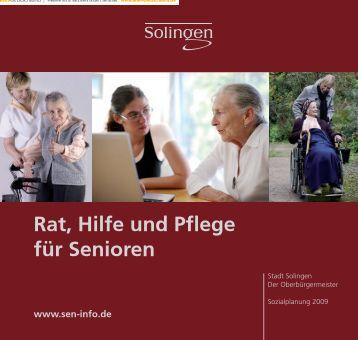 In derPflege: Ihr kompetenterPartner - Sen-Info