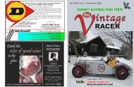 Vintage Racer Magazine December 2008 - varac