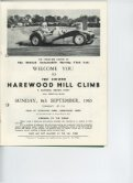 Programme 1963 8th September 4th Hillclimb - Harewood Hill History - Page 3