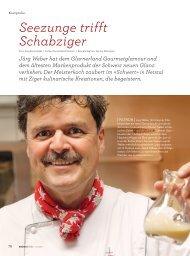 Seezunge trifft Schabziger (Saisonküche 11/2010) - schwert netstal
