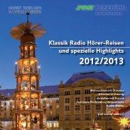 Klassik Radio Hörer-Reisen und spezielle Highlights - 1a ...