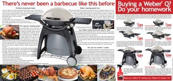 Download our latest Weber BBQ catalogue - Ellis Outdoor Living