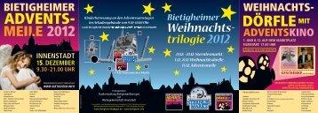 Broschüre Bietigheimer Weihnachtstrilogie - Stadt Bietigheim ...